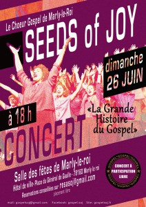 SEEDS of JOY en CONCERT Dimanche 26 juin 2016 à 18h